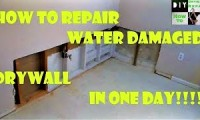 How to repair water damaged drywall