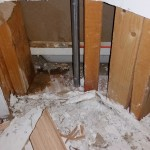 Leaking shower caused $1000's of dollars of damage to this home
