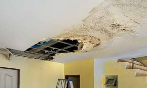 water damage repairs from roof leak